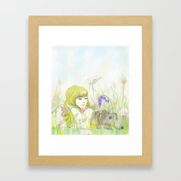 Beside one another Framed Art Print