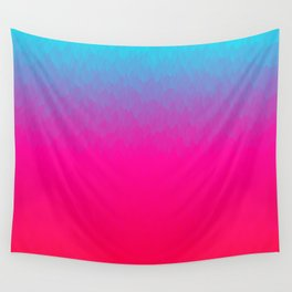 Blue purple and pink ombre flames Wall Tapestry