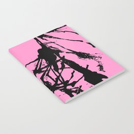 Pink Base black Notebook
