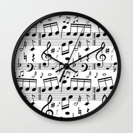 Music Notes Smphony Wall Clock