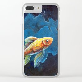 Lost in Thought Clear iPhone Case
