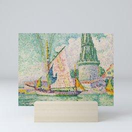 """Paul Signac """"Tour des Quatre Sergents, La Rochelle"""" Mini Art Print"""