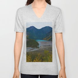 Kinney Lake in Mount Robson Provincial Park, BC, Canada Unisex V-Neck