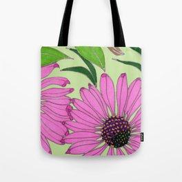 Echinacea on Pistachio Tote Bag