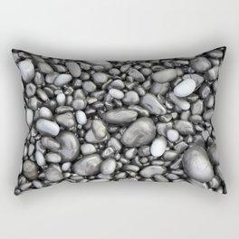 Black lava pebbles Rectangular Pillow