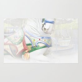 Carousel White Horse in a Child's World Rug