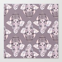 ganesh Canvas Prints featuring GANESH by Daneisha Kay