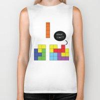 tetris Biker Tanks featuring Tetris by Digital Sketch