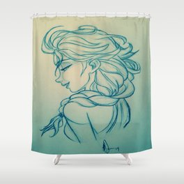 Icy Stare Shower Curtain