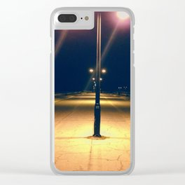White Street Pier at night, Key West, Florida Clear iPhone Case