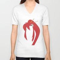 gurren lagann V-neck T-shirts featuring Minimalist Yoko by 5eth
