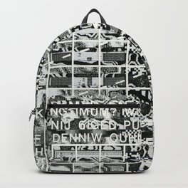 A Symbol of Belonging (P/D3 Glitch Collage Studies) Backpack