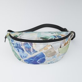 Mosaic of Barcelona VII Fanny Pack