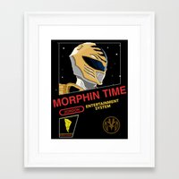 power rangers Framed Art Prints featuring NES Power Rangers by IF ONLY