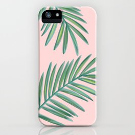 Pink Palms Tropical Vibes iPhone Case