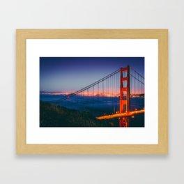 Blue Hour at Golden Gate Bridge (USA) Framed Art Print
