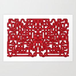 Little Red Ribbon Art Print