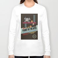 ape Long Sleeve T-shirts featuring Ape not kill ape by Berta Merlotte