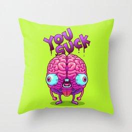 Neurotic Jerk Throw Pillow