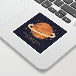 Greetings from Saturn Sticker