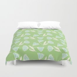 Flowers and wind Duvet Cover