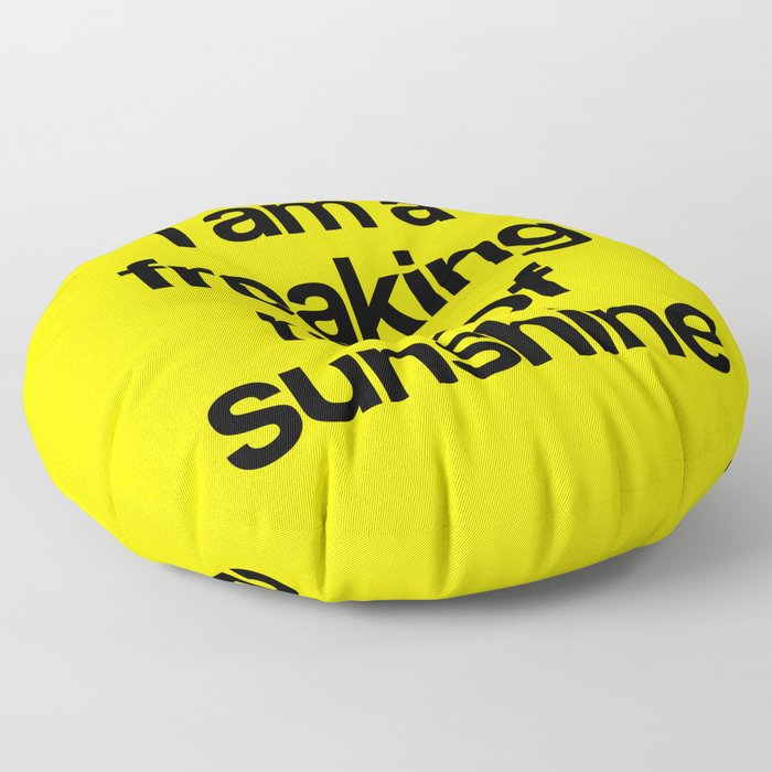 i am a freaking ray of sunshine Floor Pillow
