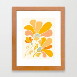 Summer Wildflowers in Golden Yellow Framed Art Print