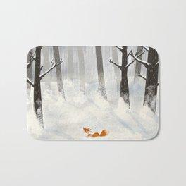 The Fox in the Snow Bath Mat
