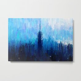 Empire State Building - New York City - Cityscape Wall Art, Poster, Impressionism Paintings, Prints Metal Print