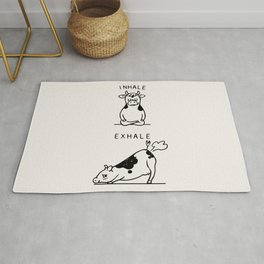 Inhale Exhale Cow Rug