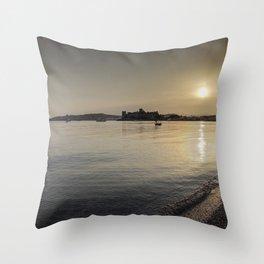 Bodrum Bay Sunset Throw Pillow