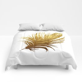 Golden Feather Comforters