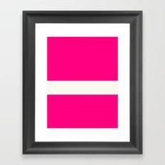 Pink Scale Framed Art Print