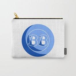 Blue Button Short Film Logo Carry-All Pouch