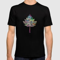 Like a Tree 2. version Black Mens Fitted Tee X-LARGE