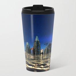 City In The Clouds (dark) Travel Mug