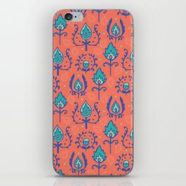 Red Ikat Doodle Pattern iPhone Skin