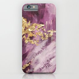 Pink, Purple and Gold Abstract Glam iPhone Case