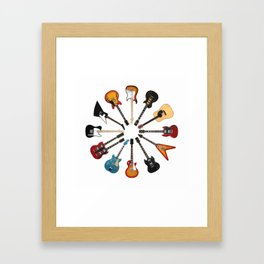 Guitar Circle Framed Art Print