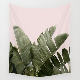 PALM ON PINK Wall Tapestry