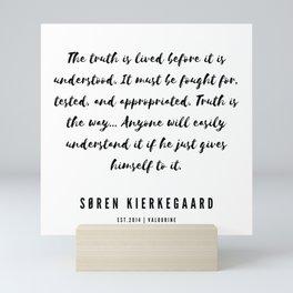 5       Søren Kierkegaard Quotes   190523 Mini Art Print