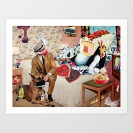 PMS Night In Art Print