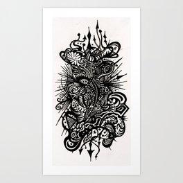 Doodlin Art Print
