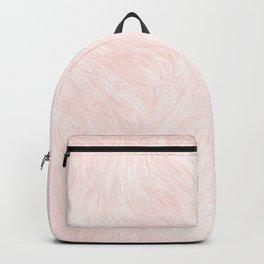 Pink Coral Fur Backpack