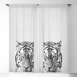 Tiger - Black & White Blackout Curtain