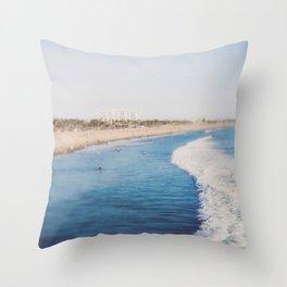 Beach Day at Santa Monica Throw Pillow
