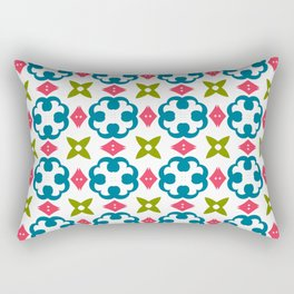 Fashion modern design beautiful patterns. Stylish graphic colors ornament textures Rectangular Pillow