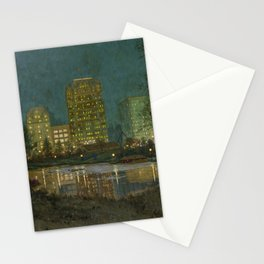 Central Park and Plaza Hotel, NY, NY by William Anderson Coffin Stationery Cards