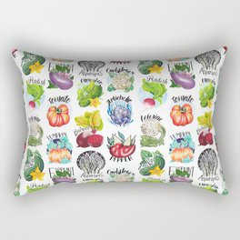 Vegetables Pattern Rectangular Pillow