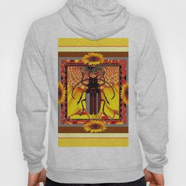 BEETLE & YELLOW SUNFLOWERS YELLOW DESIGN Hoody
